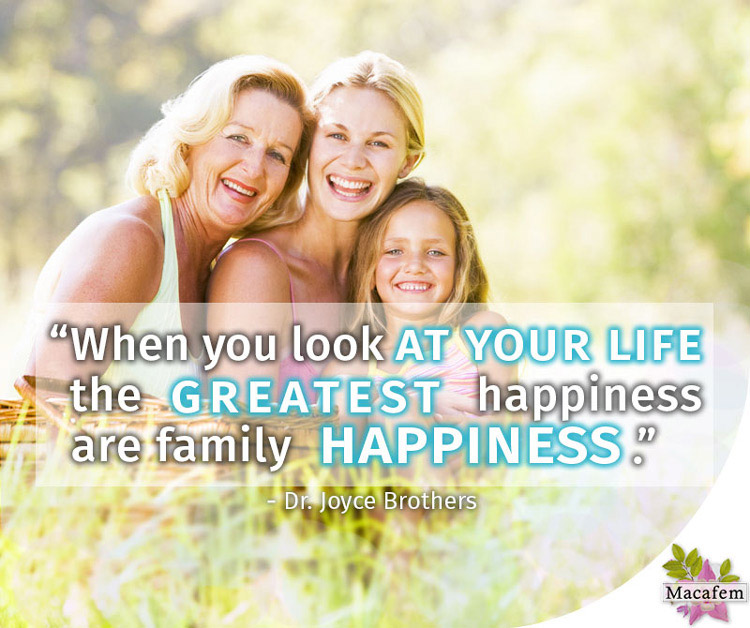 the greatest happiness are family happinesses