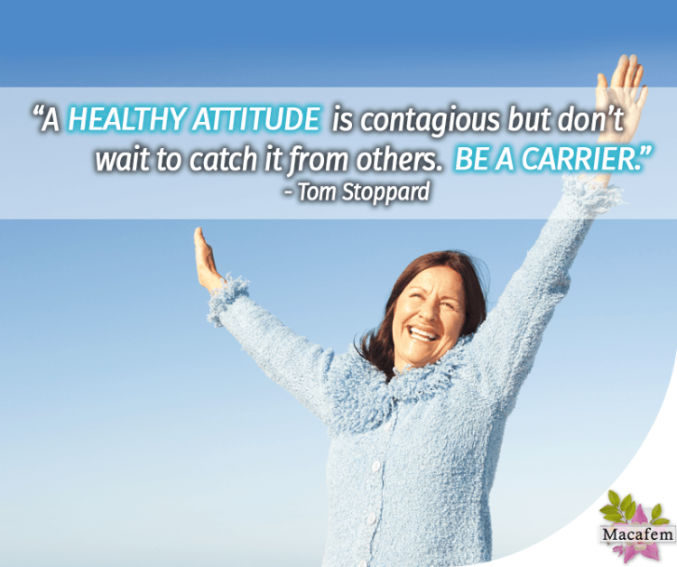 A healthy attitude is contagious