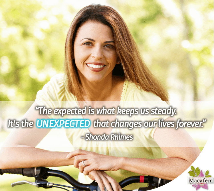 The unexpected changes our lives forever