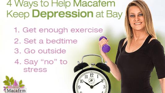 4 ways help macafem keep depression bay