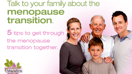 Macafem talk to your family about menopause transition