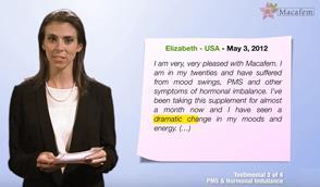 PMS hormonal imbalance macafem testimonials 3