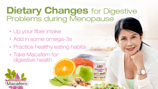 dietary changes for digestive problems during menopause