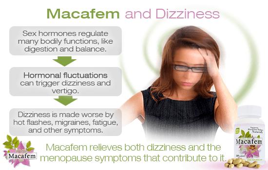 macafem and dizziness