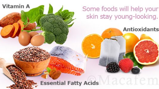 Macafem and Foods for a Young-Looking Skin