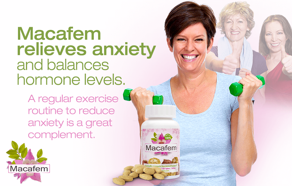 macafem anxiety hormonal connection menopause