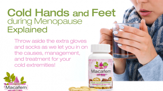 macafem cold hands and feet during menopause