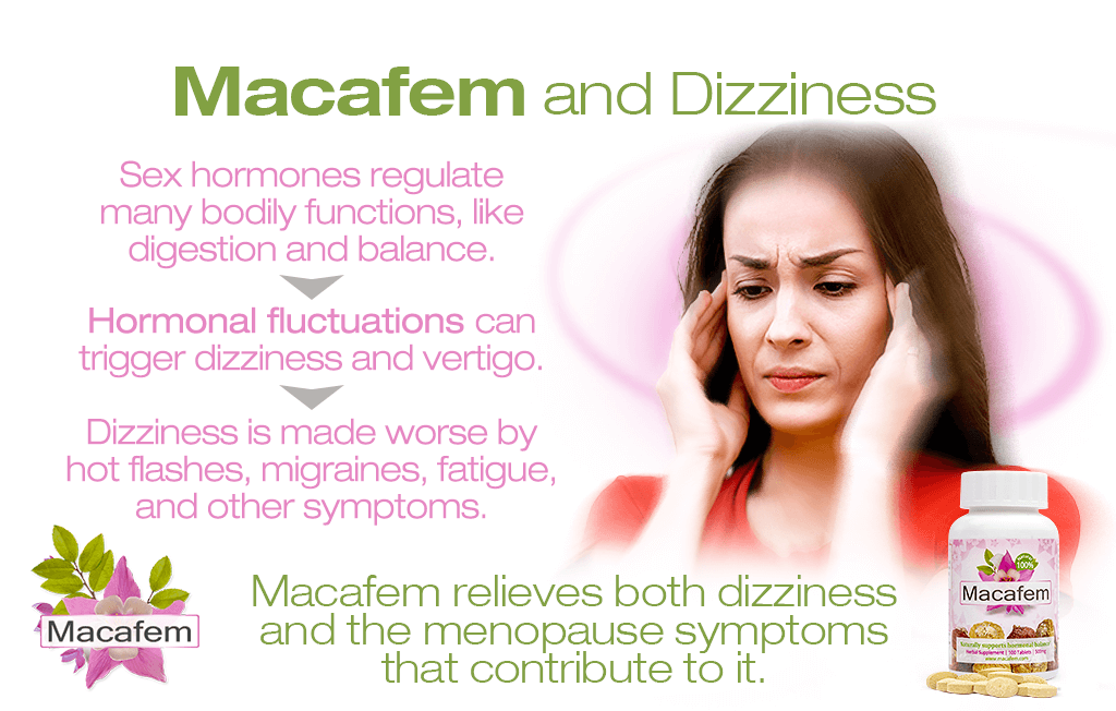 macafem and dizziness