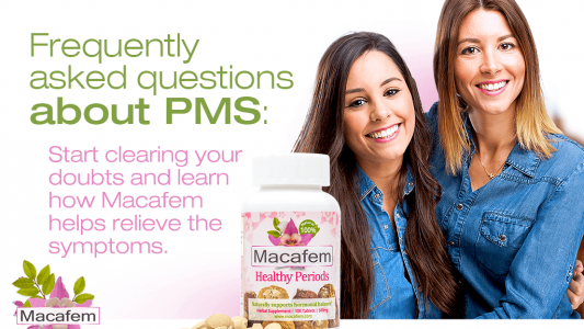 macafem frequently asked questions about pms