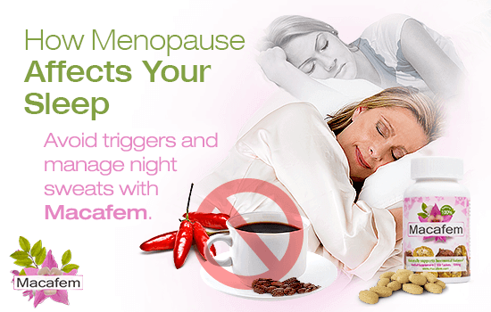 macafem how menopause affects your sleep