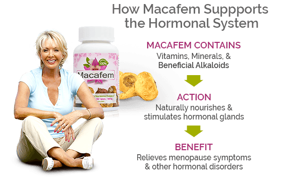how macafem supports hormonal system