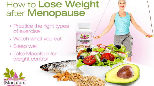 macafem how to lose weight after menopause