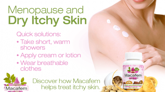 macafem menopause and dry itchy skin