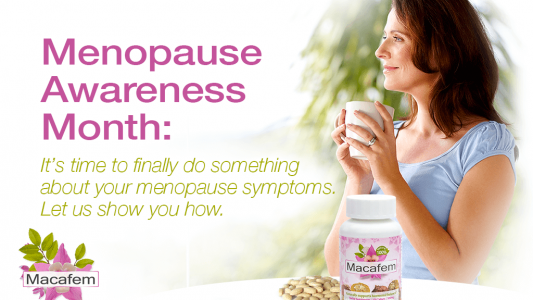 macafem menopause awareness month 2020