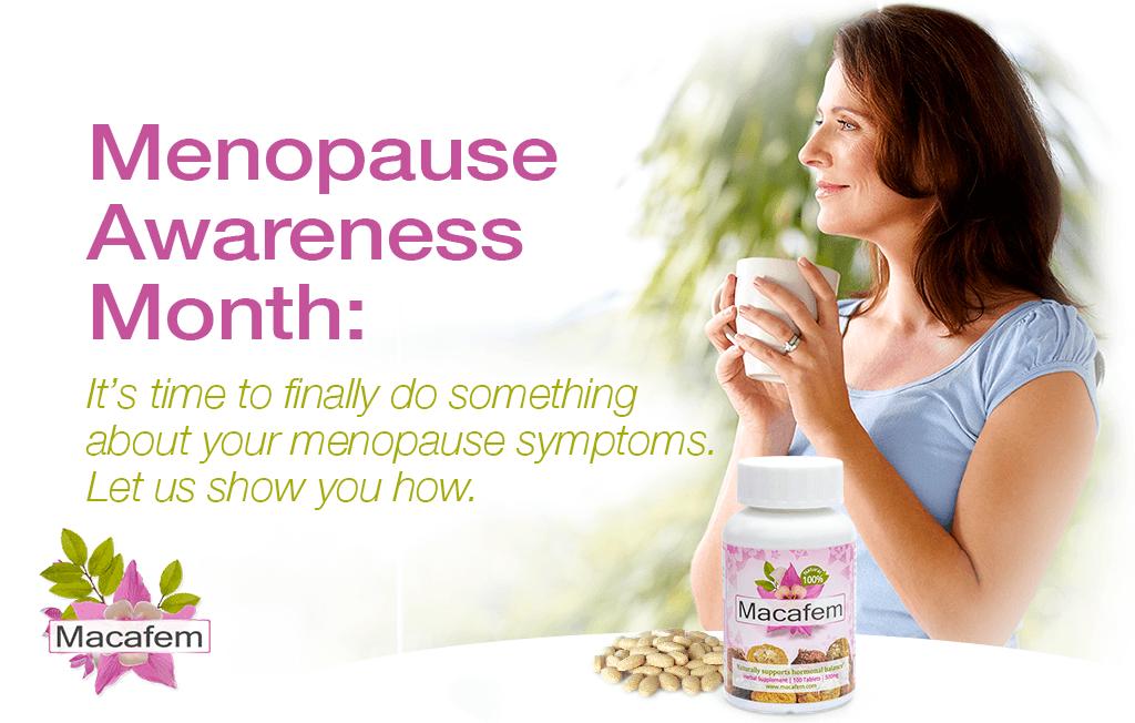 macafem menopause awareness month 2020