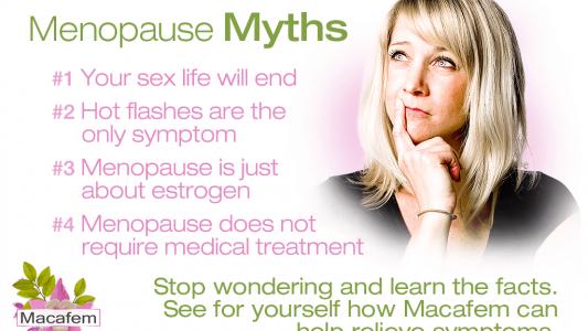macafem menopause myths