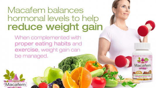 macafem perimenopause weight gain connection