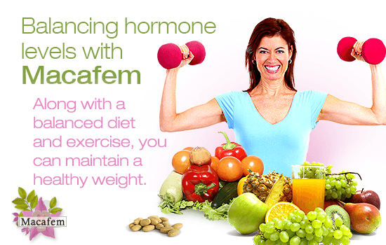 macafem perimenopause and weight gain connection