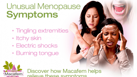 macafem unusual menopause symptoms