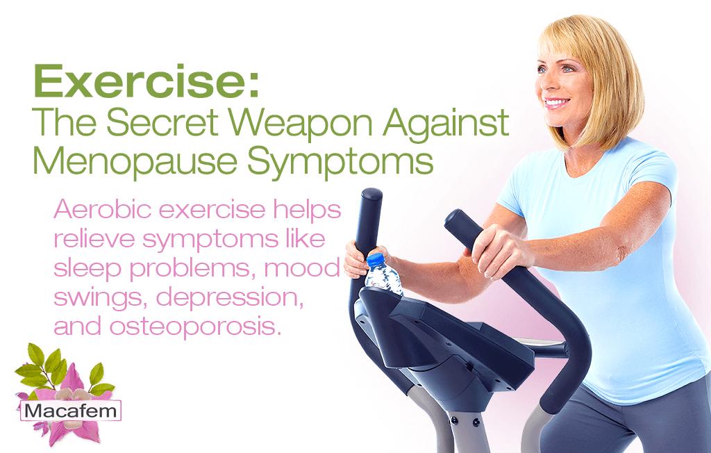 exercise secret weapon against menopause symptoms