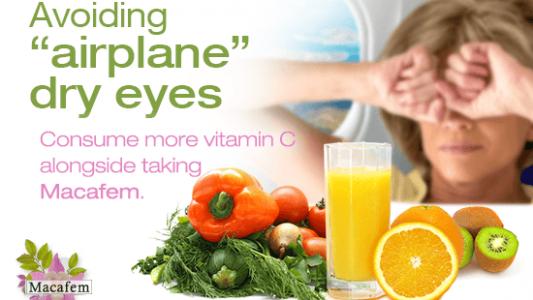 macafem tips against airplane dry eyes