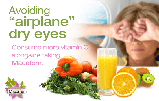macafem tips against airplane dry eyes