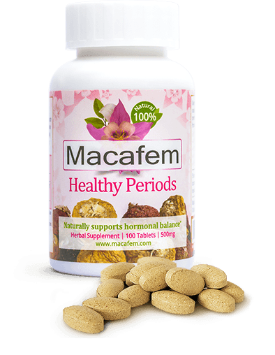 bottles of Macafem Healthy Periods