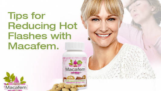 reducing hot flashes with macafem