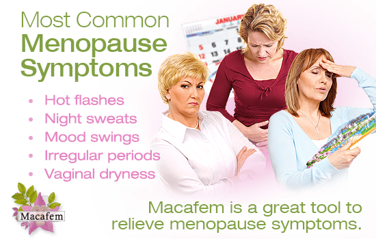 top 5 most common menopause symptoms